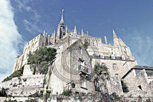 Le Mont St. Michel; Normandie; kathedraal; kerk; Frankrijk; klooster