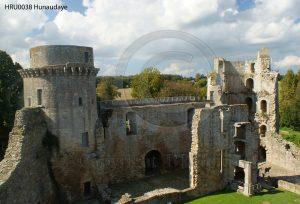 Kasteel Hunaudaye; kasteelruine; ruine; Bretagne, Frankrijk