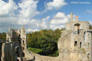 Kasteel Hunaudaye; kasteelruine; ruine; Bretagne; Frankrijk
