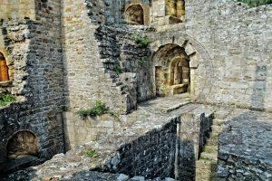 Hunaudaye; kasteel Hunaudaye; kasteelruine; ruine; Bretagne; Frankrijk