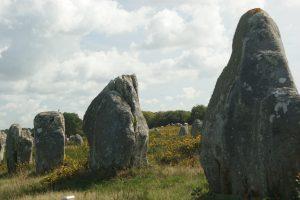 Carnac; Bretagne; Frankrijk; grote stenen; megalieten