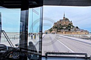 Le Mont-Saint-Michel; Le Mont-Saint-Michel vanuit de bus