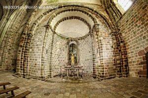 Le Mont-Saint-Michel; kapel Le Mont-Saint-Michel