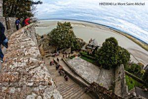 Le Mont-Saint-Michel trap; Le Mont-Saint-Michel uitzicht