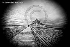 Le Mont-Saint-Michel; weg naar Le Mont-Saint-Michel