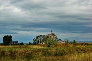 Le Mont-Saint-Michel; kerk Normandie; abdij Frankrijk