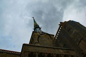 Le Mont-Saint-Michel; Le Mont-Saint-Michel toren; Le Mont-Saint-Michel kerk; Le Mont-Saint-Michel torenspits