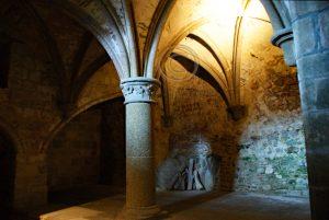 Le Mont-Saint-Michel het oude gedeelte; Le Mont-Saint-Michel gewelf