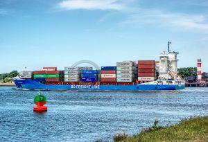 Rozenburg vrachtverkeer; vrachtschip Rozenburg