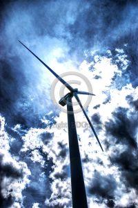 Windmolen dreigende lucht
